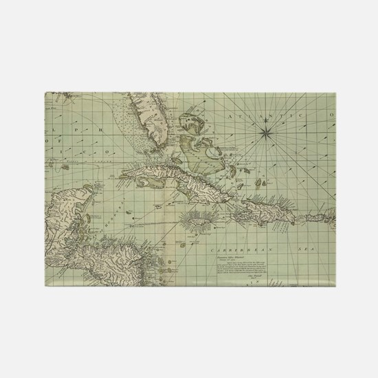 Unique Antique map Rectangle Magnet