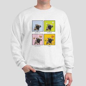 4 Seasons Pug Sweatshirt