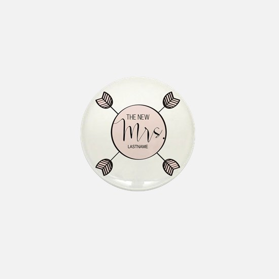 The New Mrs Personalized Bri Mini Button (10 pack)