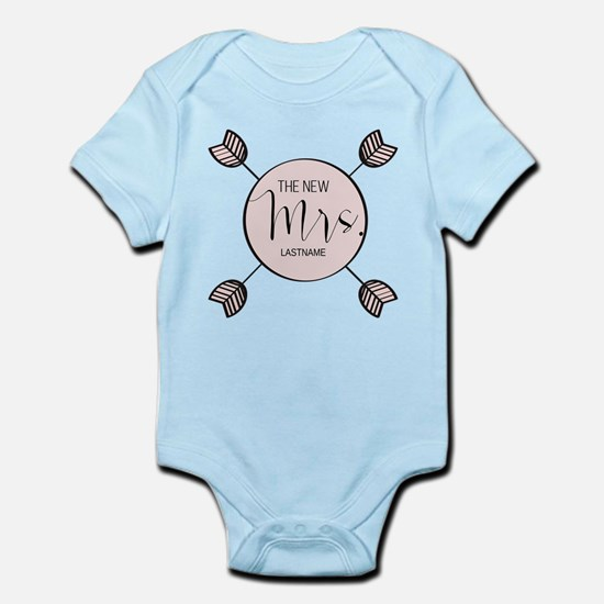 The New Mrs Personalized Bride Infant Bodysuit