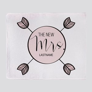 The New Mrs Personalized Bride Throw Blanket