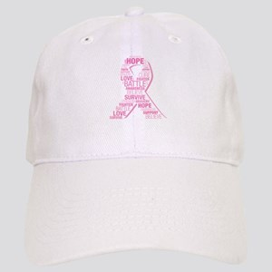 Breast Cancer Ribbon Collage Cap