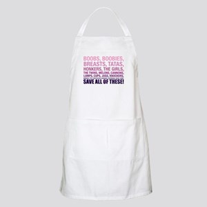 Breast Cancer Awareness- Save All Of T Light Apron