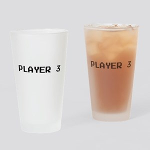 PLAYER 3 Drinking Glass