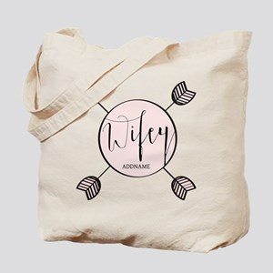 Wifey Bride Personalized Tote Bag