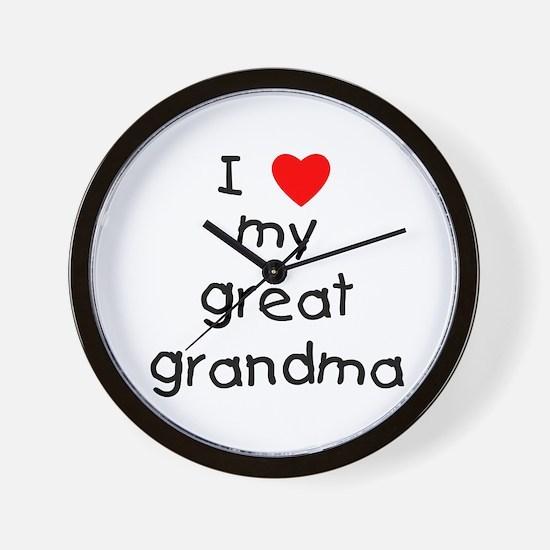 I love my great grandma Wall Clock