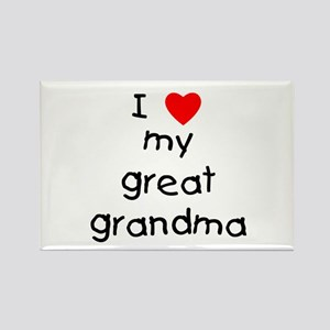 I love my great grandma Rectangle Magnet