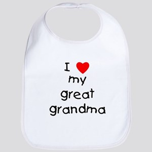 I love my great grandma Bib