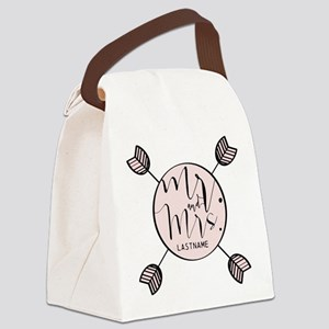 Mr And Mrs Trendy Personalized Canvas Lunch Bag
