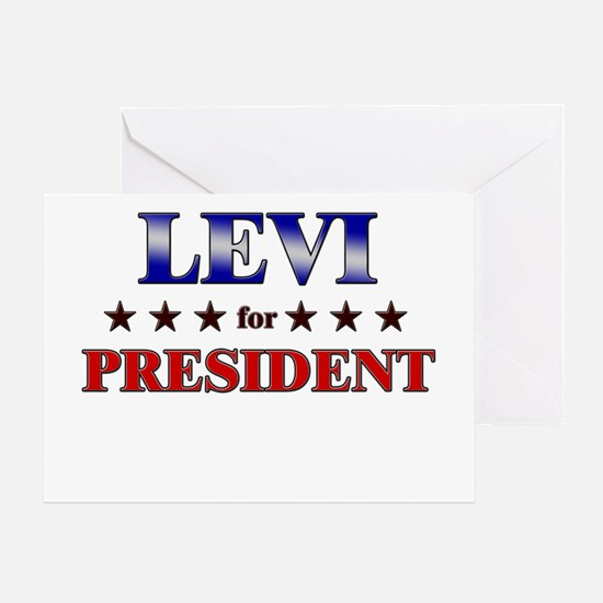 LEVI for president Greeting Card