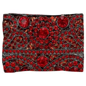 bohemian gothic red rhinestone Pillow Sham
