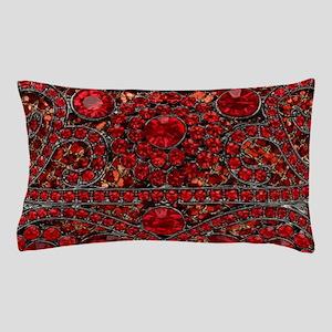 bohemian gothic red rhinestone Pillow Case