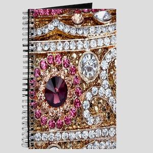 girly bohemian red rhinestone Journal