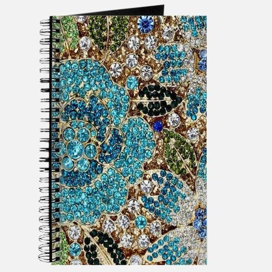 bohemian floral turquoise rhinestone Journal