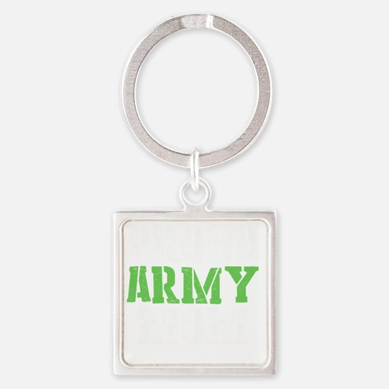 Unique Proud army sister Square Keychain