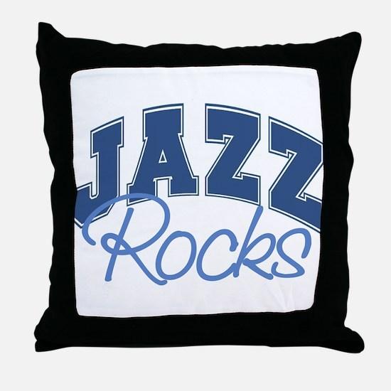 Jazz Rocks Throw Pillow