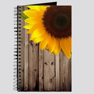 bohemian barn wood sunflower Journal