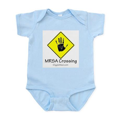 MRSA Crossing Sign 02 Infant Bodysuit