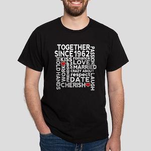1962 anniversary couples Dark T-Shirt