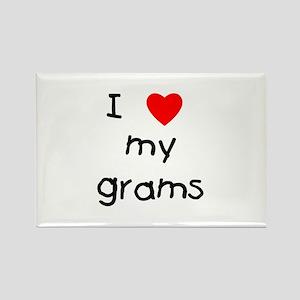 I love my grams Rectangle Magnet