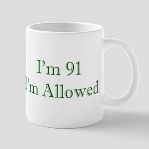 91 I'm Allowed 3 Green Mugs