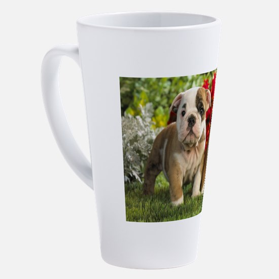 Cute Bulldog 17 oz Latte Mug
