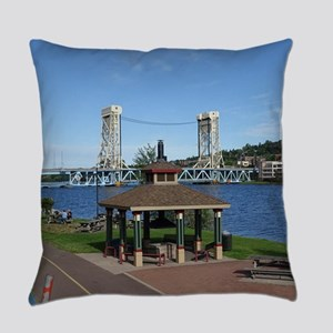 Portage Lake Bridge Everyday Pillow