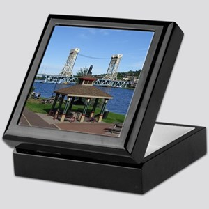 Portage Lake Bridge Keepsake Box