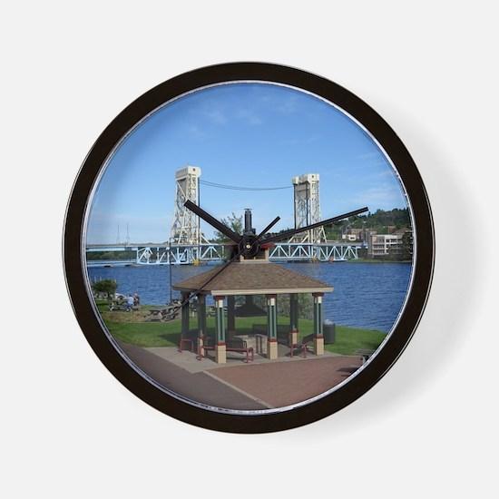 Portage Lake Bridge Wall Clock