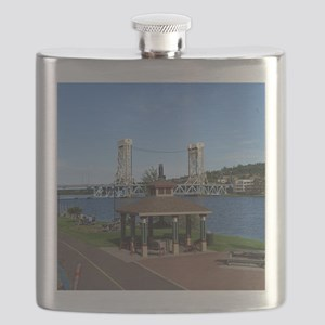 Portage Lake Bridge Flask