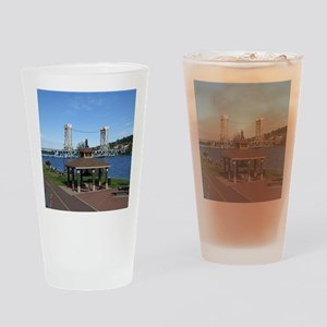 Portage Lake Bridge Drinking Glass