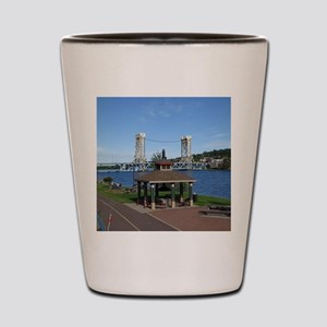 Portage Lake Bridge Shot Glass