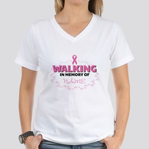 Walking in Memory Of Person Women's V-Neck T-Shirt