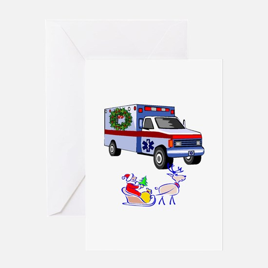 Emt And Paramedic Christmas Greeting Cards