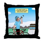 Alcohol-free Beer Sports Drink Throw Pillow