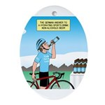 Alcohol-free Beer Sports Drink Oval Ornament