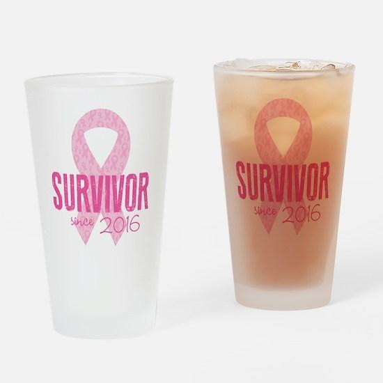 Breast Cancer Awareness - Survivor Drinking Glass