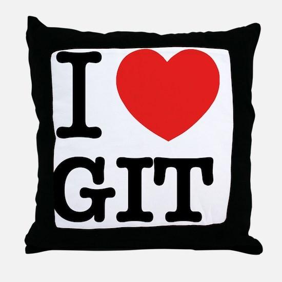 Unique Git Throw Pillow