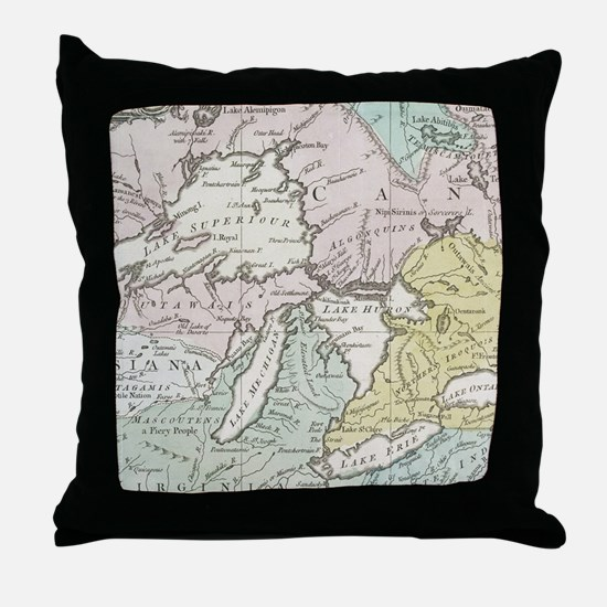 Unique Great lakes Throw Pillow