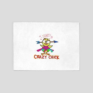 Crazy chick 5'x7'Area Rug