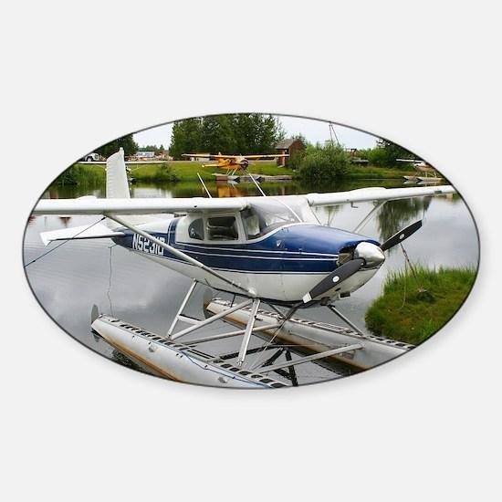 White & navy float plane, Alaska Decal