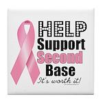 Help Support 2nd Base Tile Coaster