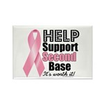 Help Support 2nd Base Rectangle Magnet (10 pack)