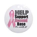 Help Support 2nd Base Ornament (Round)