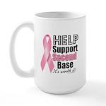 Help Support 2nd Base Large Mug
