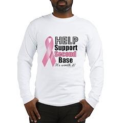 Help Support 2nd Base Long Sleeve T-Shirt