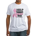 Help Support 2nd Base Fitted T-Shirt