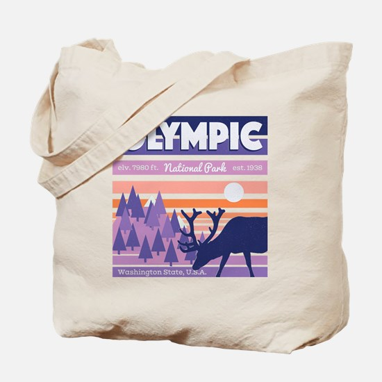 Cute Olympic national park Tote Bag
