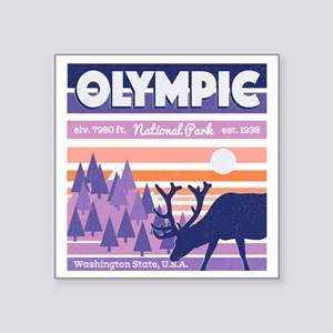 Olympic National Park Sunset Mountain Sky Sticker