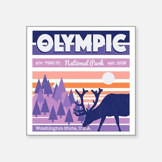 Olympic National Park Sunset Mountain Sky Sticker